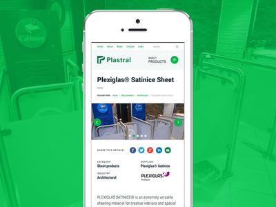 Plastral - Mobile version ux ui webdesign web design