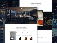 O Bar and Dining restaurant webpage webdesign website web ui landing