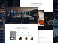O Bar and Dining restaurant webpage webdesign website web ui landing