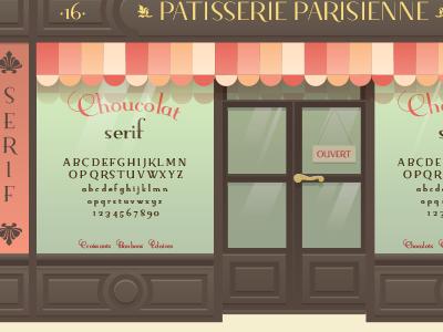 Specimen for my font street bakery typography typeface design illustration paris