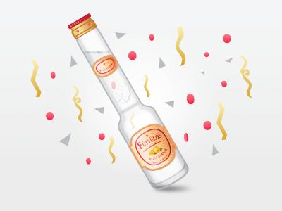 Fütyülős Bottle booze party illustration bottle palinka
