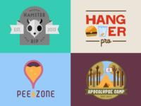 Fictional company logos