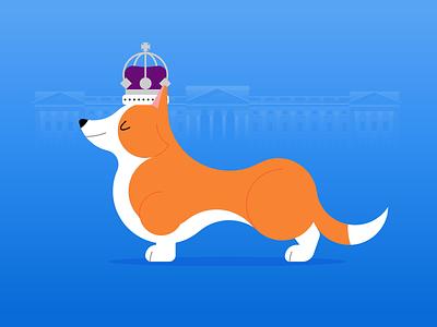 Ye Royal Corgi crown royal buckingham palace london corgi dog