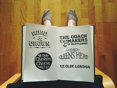 Some pubs in London sketchbook sketch london pub sign signage