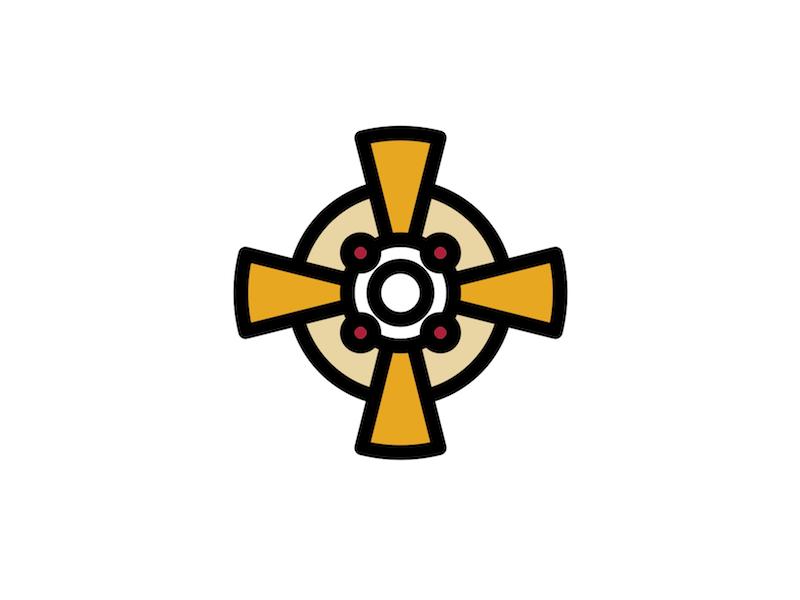 Monstrance catholic vector