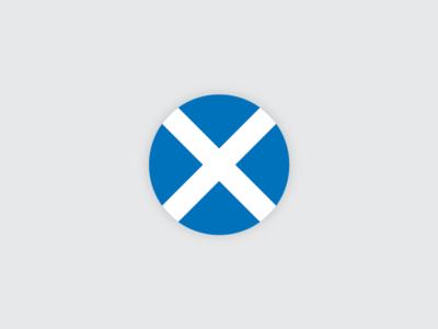 Saltire Flag Circle
