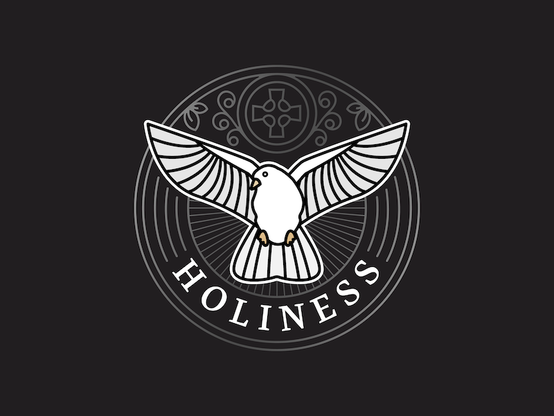 Holiness icon vector badge catholic dove holiness