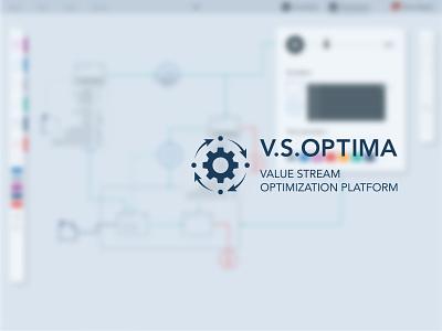 Value Stream Optimization app app website branding web ui ux logo design