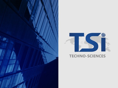 Techno-Sciences logo web typography design branding