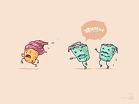 ice cream zombies (x2)