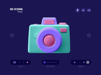 3D ICONS (PACK 01) c4d website web presentation morquastore morqua freebie free icons 3d icons illustration gif animation loop ae figma ux design ui design uiux ui