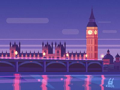 London (vector) morquastore morqua london city landscape 2d illustration nature background home building krolone vector