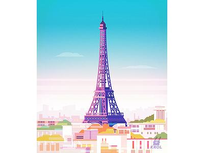 The Eiffel Tower. Paris morquastore store morqua vector building home background nature illustration 2d landscape city france paris