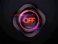 Button (turned off)