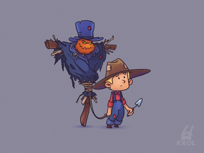 Character concept 2d character 2d art 2d cartoon hat game art game scarecrow weapon man bow character character design concept design concept art concept illustration