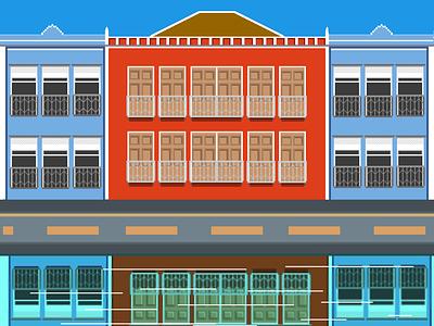 Recife pixel dailies aseprite brazil landscape background bg illustration art illustraion steam 8bit pixelate pixelartist pixel perfect pixel art pixels pixelart pixel