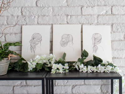 Bridal Salon Illustrations design bridal hair salon grays illustration art illustration design poster art posters poster illustrations illustration