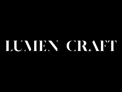 Lumen Craft Logo logo serif stencil black and white hand drawn type