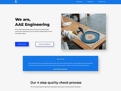 AAE Engineering ecommerce website landing page uxdesign ux landingpage webdesign ecommerce casestudy uiux uidesign ui design