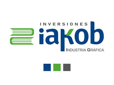 LOGO INVERSIONES IAKOB publicidad design typography logo branding