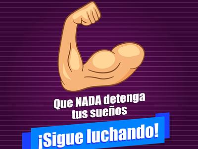 QUE NADA DETENGA TUS SUEÑOS publicidad illustration branding