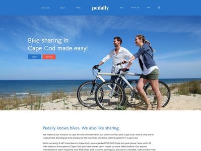 Pedally ui design ux design ui ux cape cod bike sharing startup mobile design illustration typesetting web designer web design website