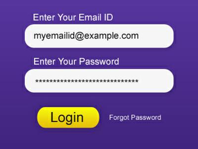 Simple user login & sign up form login form
