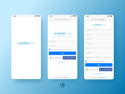 Login & Sign up Page E-Sporthub ui design ui  ux sign in sign up sport gradient form design login design iphone x app login login form login page app design