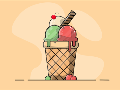 ICE CREAM ice cream vector illustration vectorart illustration adobe illustrator
