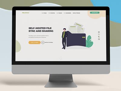 File Drive Landing Page With unDraw website design branding typography ui design ui  ux design web ui landing page