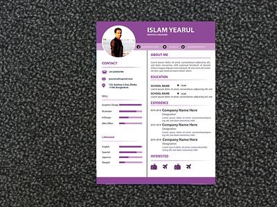 Resume Template 2 biodata design