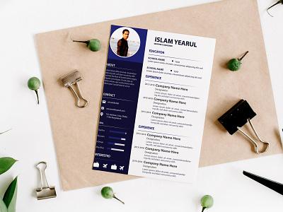 Resume Cover biodata design