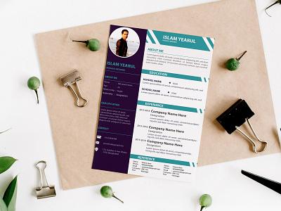 Resume Template Design biodata design