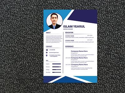 Advance Resume biodata design