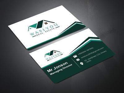 Wasi you Business card design business card card design business card design creative visiting card visiting card design visiting card