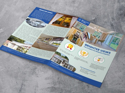 window repair company flyer banner design