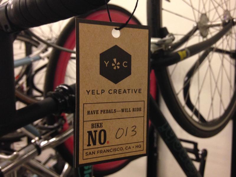 Bikes of Yelp creative design print tags yelp bicycles bikes