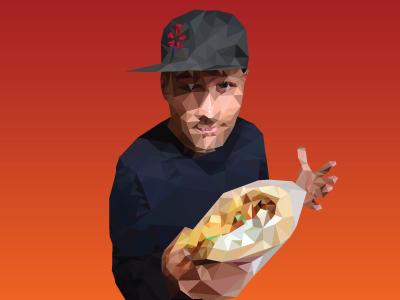 Kaskade at Yelp food tour vector music gradient poster kaskade