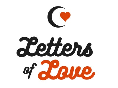 Letters Of Love blog graphic design typography share love notmypresident lockup type website