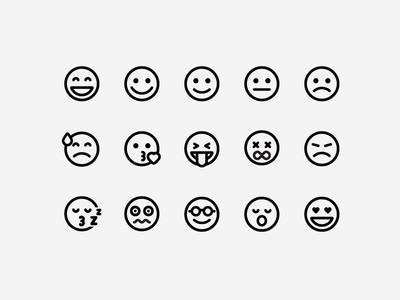 Emoji Set smile angry sad happy smileys icons emoticons emojis