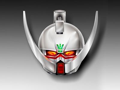 Turn a Gundam vector mechanical robot anime char head helmet mech suit mobile gundam mustache