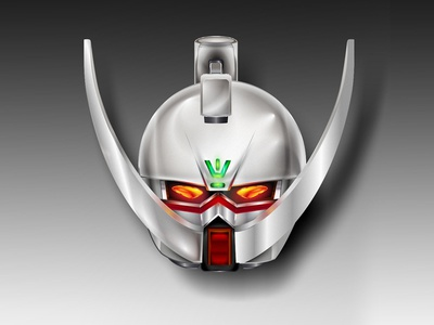 Turn a Gundam vector mechanical robot anime char head helmet mech suit mobile gundam mustache