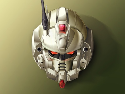 Gundam Ez8 face mech robot helmet head team ms 08th suit mobile gundam ez8