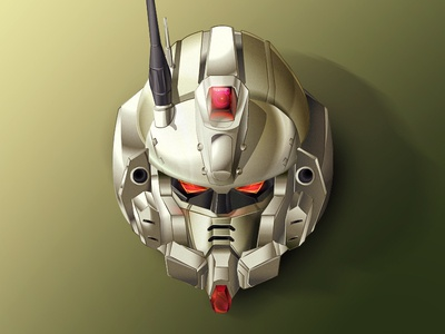Gundam Ez8 face mech robot helmet head team ms 08th suit mobile gundam ez8