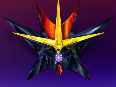 Gunbuster diebuster lagann gurren laser beam head mech robot anime gainax gunbuster