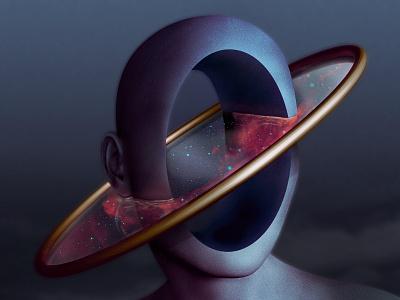 Hollow Reflection dream trippy conceptual noface reflection mirror head photoshop fantasyart surreal art photomanipulation