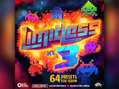 Limited Vol. 3 vol 3. galaxy mdk producer invaders space explosion music pixel limitless
