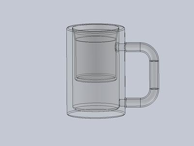 Klein Mug creative 3d model creative design ui branding ugnx solidworks klein ux design container bottles complex