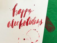 Lettering for holiday cards