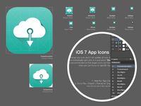 ios 7 App Icons Artboard Template